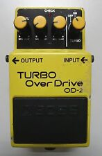 BOSS OD-2 TURBO Over Drive Guitar Effects Pedal made in Japan MIJ 1988