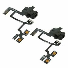 2 X Headphone Jack - Mute Switch - Volume Buttons  Audio Flex Cable For iPhone 4