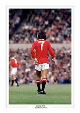GEORGE BEST A4 PHOTO PRINT ICONIC IMAGE MAN UTD MANCHESTER UNITED GIFT FOR HIM