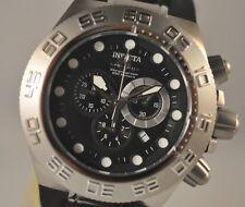New Mens Rare Invicta 1536B Subaqua Chronograph Black Rubber Strap Watch