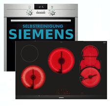 Herdset Pyrolyse Siemens Autark Einbaubackofen + Glaskeramik Kochfeld 81cm NEU