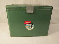 ANTIQUE 1950'S  COLEMAN STEEL ICE COOLER CHEST PENGUIN LOGO PERIOD PIECE PROP