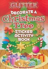 Glitter Decorate a Christmas Tree Sticker Activity Book by Fran...