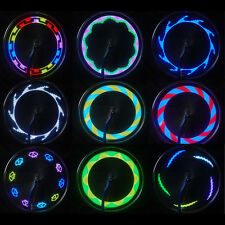Colorful 14 LED Cycling Bicycle Bike Wheel Signal Tire Spoke Light 30 Changes