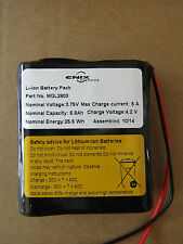 ENIX 3.75V Wire Lead Terminal Rechargeable Lithium Battery Pack 6800mA 6152450 P
