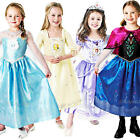 Deluxe Disney Princess Girls Fancy Dress Fairytale Kids Childrens Costume Outfit