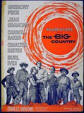 BIG COUNTRY 1958 Gregory Peck, Charlton Heston, Jean Simmons US PRESSBOOK