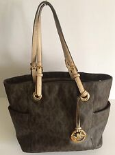 Genuine Michael Kors 'Jet Set Signature' Medium Mocha Tote Bag - N I-1206