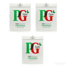 New PG Tips 240 Original Pyramid Tea Bags x3