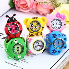 Fashion Animal Slap Snap On Silicone Wrist Watch Boys Girls Children Kids U7