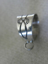 "STERLING SILVER  5/8""  PENDANT BAIL FOR PENDANTS WITH HOOKS  C CHAMA  SIGNED"