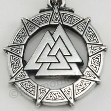VALKNUT CELTIC WARRIOR'S Knot Viking Nordic God Pendant Necklace bin in store