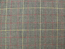 100% Wool-Worsted Tweed Fabric in a Glen Check with Windowpane Overcheck 2.15 m