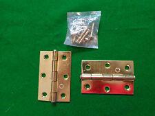 """BUTT CERNIERE 3"""" 75mm Loose Pin Placcato Armadietto in acciaio lavoro falegnameria 1 Paio"""