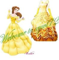 Adult Disney Beauty & the Beast Princess Belle Enchanting Deluxe Dress Costume