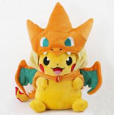 "9"" Inch Pokemon Pikachu With Charizard hat Plush Soft Toy Stuffed Animal Doll"
