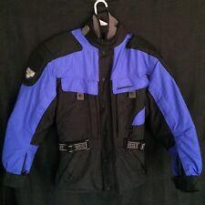 First Gear Motorcycle Jacket Kilimanjaro Mens M Blue Black Snap in Liner Seasons