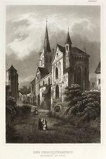 BACHARACH - KIRCHE ST. PETER - Meyer's Universum - Stahlstich 1854