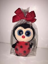 TY BUGSY LADYBUG BEANIE BOOS KEY CLIP, NEW, RED TAG, HARD TO FIND- ADORABLE