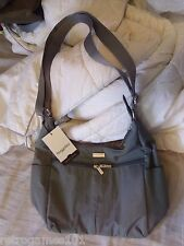 NEW BAGGALLINI Cargo Bag Crossbody Shoulder Pewter Gray Nylon MRG880PT Travel