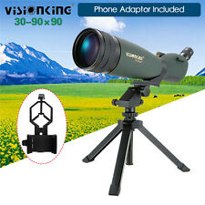Visionking 30-90X90 Spotting Scope Monocular Telescope+Cell Phone Adaptor Tripod