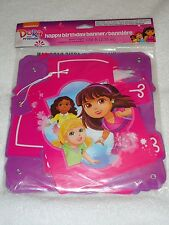 NEW DORA AND FRIENDS HAPPY BIRTHDAY BANNER 7.59 FT LONG