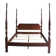 4 Poster Bed / Cal King Bed / Georgian Court Rice Carved Bed by Ethan Allen