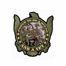 Biker Chopper Motorrad Proud to be Army Veteranen Eagle Aufbügler Aufnäher Patch