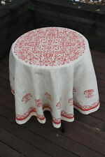 NEW Handmade Lace Large Tapestry Round Tablecloth/Rug-L