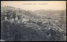 Early 1900's Vintage Sepia Postcard Les Laumes Alesia, France Scenic Town View