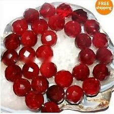 """8mm Faceted Red Ruby Round Loose Beads Gemstone 15"""" Long AAA"""