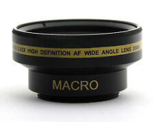 WIDE ANGLE 0.43x LENS 30mm FOR Sony HDR-CX100 SR85 SR88 CX300 CX3500 XR200 SX63