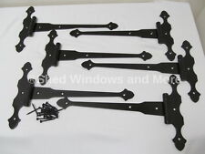 "(6) 12"" Decorative Strap Hinges for Shed Barn Doors Gates Storage Sheds Carriag"