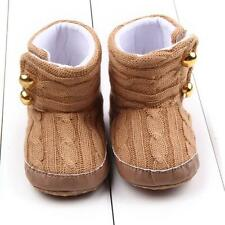 Toddler Baby Crochet/Knit Fleece Wool Boots Girl Toddler Snow Booties14~
