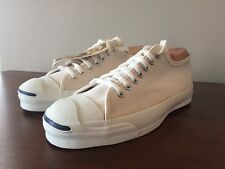 NWT Vintage Converse Jack Purcell Shoes White Canvas Made in USA Mens Size 9.5