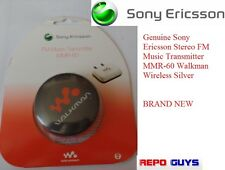 Genuine Sony Ericsson Stereo FM Music Transmitter MMR-60 Walkman Wireless Silver