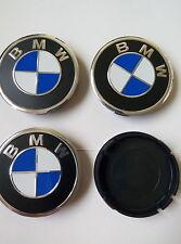 Bmw 4x Alloy Wheel Center Caps FOR RIM 55mm