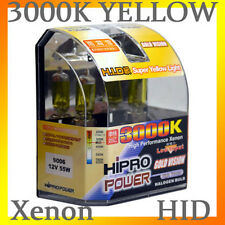 9006 55W 3000K GOLDEN YELLOW XENON HID HALOGEN FOG LIGHT BULBS