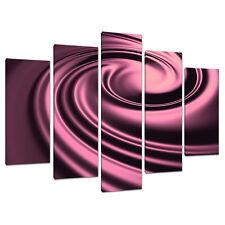 Juego De Cinco Panel ciruela Abstractos tela pared arte imágenes impresiones 5059