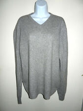MEN'S OLIVER PERRY 100% CASHMERE NOT THICK LIGHT GRAY V-NECK SWEATER M