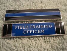 """Thin Blue Line"" & ""Field Training Officer"" Heroes 2Pc Set Citation Bars FTO"