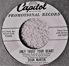 Dean Martin Only Trust Your Heart DJ Promo 45 VG+++ Bamboozled Orig 50s Crooner