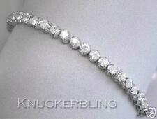 5ct Diamond Tennis Bracelet Round Brilliant Cut 18ct White Gold F Colour Line