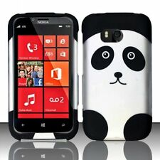 For Nokia Lumia 822 Rubberized HARD Case Snap On Phone Cover Panda Bear