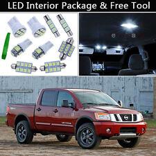 10PCS White LED Interior Car Lights Package kit Fit 2004-2015 Nissan Titan J1