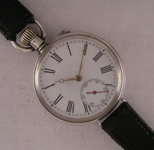 Early SPHINX '1900 Antique Swiss Huge Solid Silver Wrist Watch Perfect Serviced