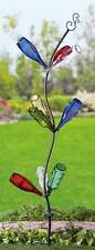 """Tall Solar-Powered Bottle Tree Metal Garden Stake 72""""H with 9 Lighted Branches"""