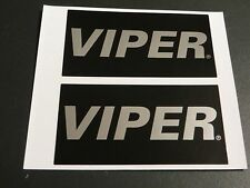 Viper Car Alarm OEM Security Stickers Decals Label 2 pc new