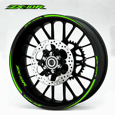 Kawasaki ZX10R green Wheel Rim Decals Stickers
