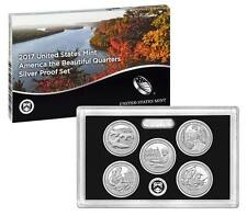 2017 America The Beautiful National Parks Quarter SILVER Proof Set with COA